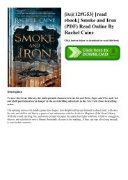 [ix@12#G53] [read ebook] Smoke and Iron (PDF) Read Online By Rachel Caine