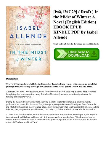 [ix@12#C29] ( ReaD ) In the Midst of Winter A Novel (English Edition) EBOOK EPUB KINDLE PDF By Isabel Allende