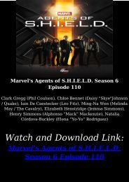 Streaming Online TV SHOW Marvels Agents of SHIELD Season 6 Episode 110 Free