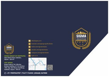 SIGMA GROUP OF INSTITUTES BROCHURE 2018