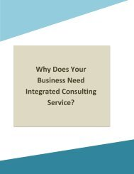 Why Does Your Business Need Integrated Consulting Service?