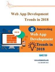 Top 5 Interesting Web App Development Trends in 2018