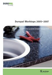 Duropal Worktops 2005–2007 classic and quadra ... - Kitchens 123
