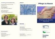 Pflege zu Hause - Herzlich willkommen auf der Homepage des ...