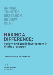 ATRR 2018 Making a difference patient and public involvement in tinnitus research FINAL