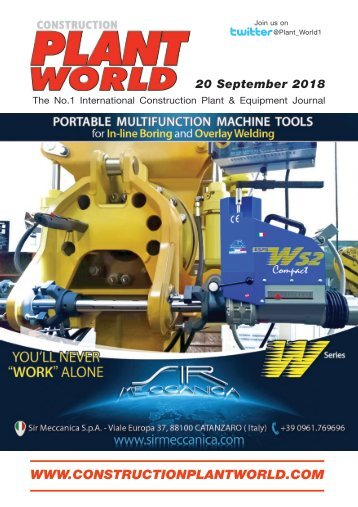 Construction Plant World - 20th September 2018