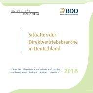 Situation der Direktvertriebsbranche in Deutschland 2018