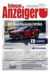 Schwyzer Anzeiger – Woche 38 – 21. September 2018