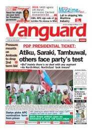 19092018 - PDP PRESIDENTIAL TICKET: Atiku, Saraki, Tambuwal, others face party's test