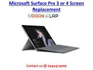 Get the service of Microsoft Surface Pro 3 or 4 Screen Replacement in Dubai, Call 0544474009