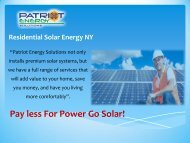 Residental Solar Energy