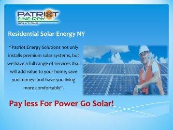 Residental Solar Energy