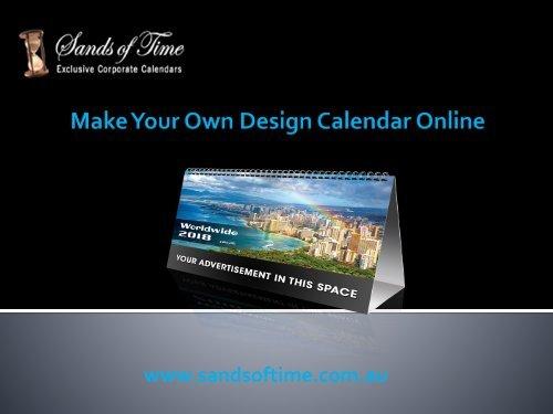Make Your Own Design Calendar Online