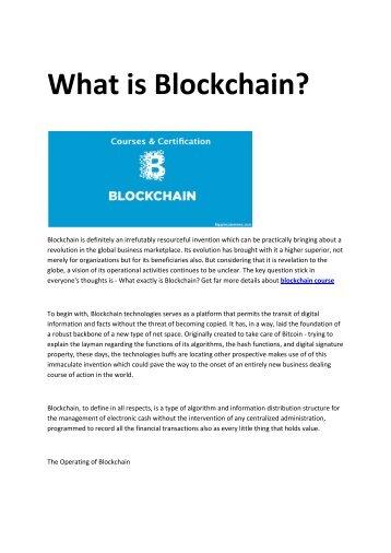 2 blockchain course