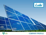 Lubi Solar | Solar Panel Manufacturing Company India