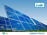 Lubi Solar | Solar Panel Manufacturing Company India