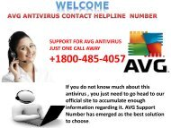 +1800-485-4057 AVG Antivirus Contact Support Number