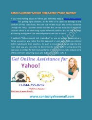 Yahoo Customer Service & Support Toll-Free Number +1-844-755-8737