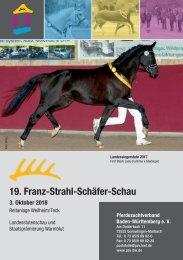 Landesstutenschau 3. Oktober 2018 - 19. Franz-Strahl-Schäfer-Schau