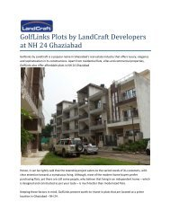 Golflinks Plots by LandCraft Developers at NH 24 Ghaziabad