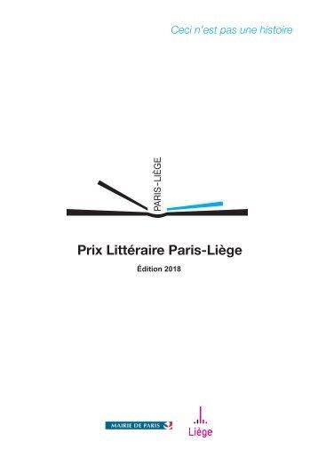 Finalistes du Prix littéraire Paris-Liege 2018