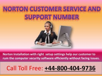 Norton Customer Service Number
