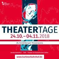 PROGRAMMHEFT HEIDELBERGER THEATERTAGE 2018