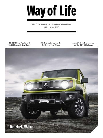 Suzuki Way of Life Magazin Herbst 2019
