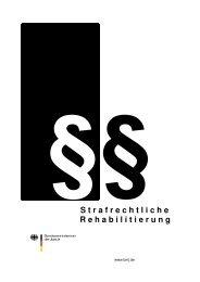 S trafrechtliche R ehabilitierung - Bundesministerium der Justiz