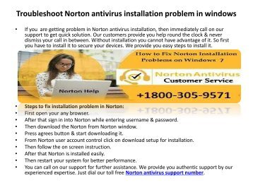 1800-305-9571 Norton technical support phone Number