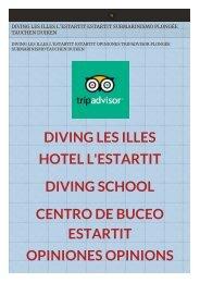 Diving Les Illes Estartit l'Estartit Submarinismo Plongée Tauche Duiken