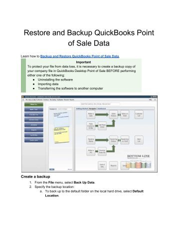 How Do I Restore and Backup QuickBooks Point of Sale Data_