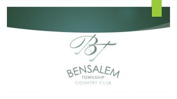 Delightful weddings in Beautiful surroundings at Bensalem Township Country Club