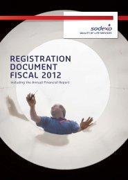 REGISTRATION DOCUMENT FISCAL 2012 - Sodexo