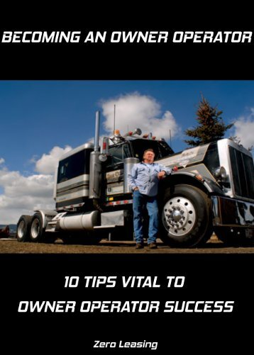 Owner Operator 10 Vital Tips to Success