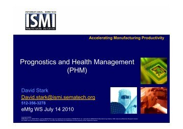 Prognostics and Health Management (PHM) - Sematech