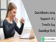 Support for QuickBooks 2014 Ends May 31st – It's Time to Say Goodbye to It
