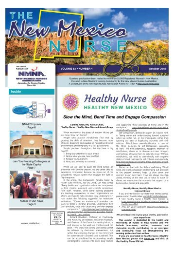 The New Mexico Nurse - October 2018