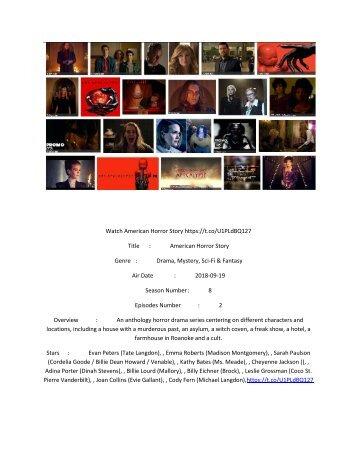 American Horror Story live stream: Watch Season 8, Episode 2 online hd