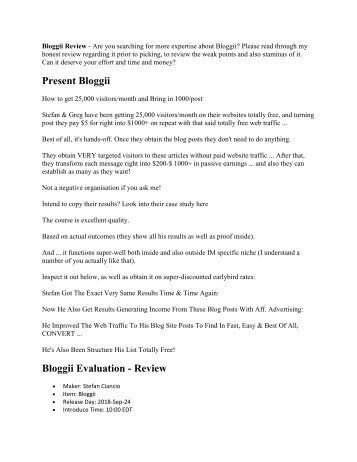 Should you buy Bloggii