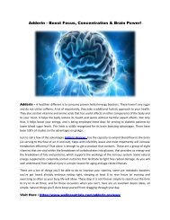 Adderin Reviews- Boost Your Energy Level & Cognitive Function!