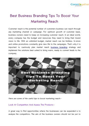 Best Business Branding Tips To Boost Your Marketing Reach