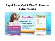 Rapid Tone: Get a perfect and slim body