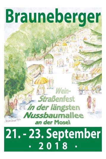 Brauneberger Weinstraßenfest 21.-23. September 2018