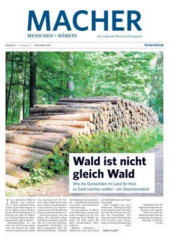 MACHER Menschen + Märkte - Ausgabe 7, September 2018