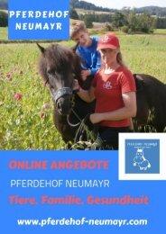 ONLINE Angebote am Pferdehof NEUMAYR