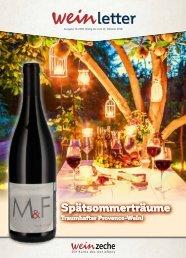 Weinzeche Weinletter 10_2018 – Die Kunst des Genießens