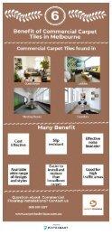 6 Benefit of Commercial Carpet Tiles in Melbourne