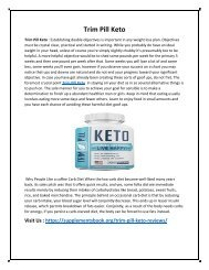 Trim Pill Keto -  Gives You Control Over Craving