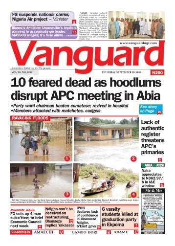 20092018 - 10 feared dead as hoodlums disrupt APC meeting in Abia